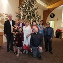 Christmas 2018 with Pastor Mike and Spanish Choir members